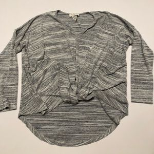 ✈️ Lavender Field gray front tie top s
